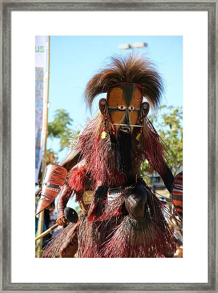 Framed Print featuring the photograph Island Warrior by Debbie Cundy