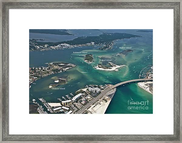 Islands Of Perdido - Labeled Framed Print