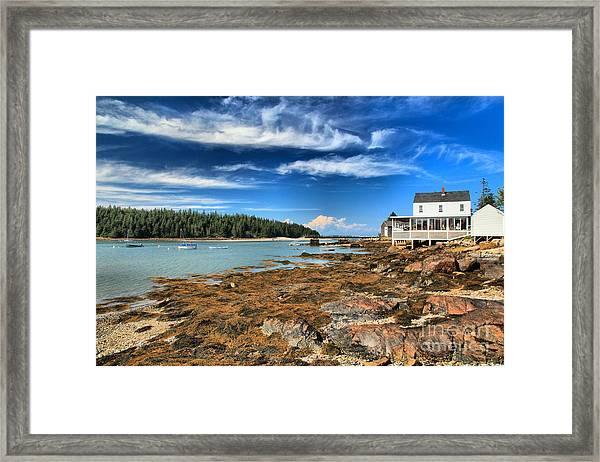Isle Au Haut House Framed Print