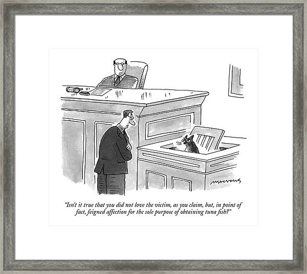 Isn't It True That You Did Not Love The Victim Framed Print