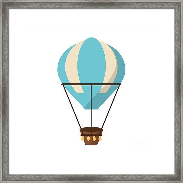 Isolated Hot Air Balloon Design Framed Print by Jemastock