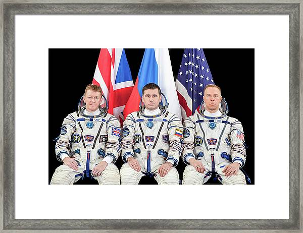 Iss Expedition 46 Crew Framed Print