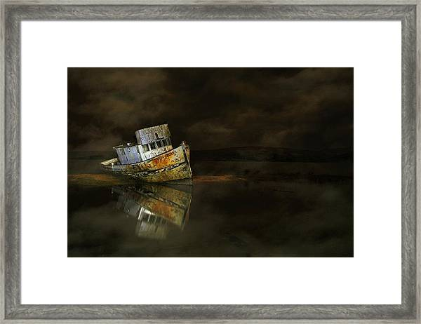 It All Ends In The Fog Framed Print