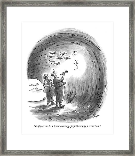 It Appears To Be A Heroic Hunting Epic Followed Framed Print