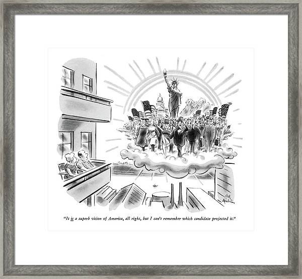 It Is A Superb Vision Of America Framed Print