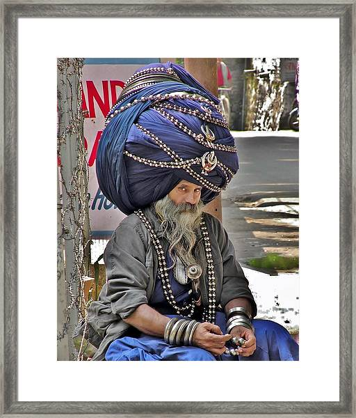 Its All In The Head - Rishikesh India Framed Print