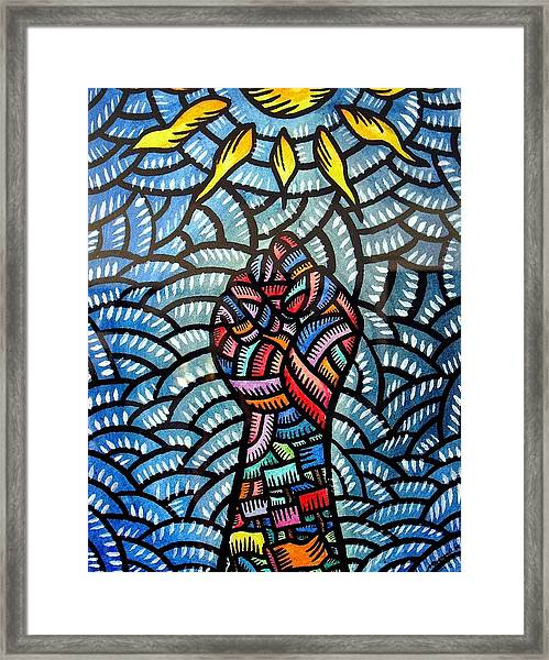 Itaas Sa Bagong Araw Raise To The New Day Framed Print