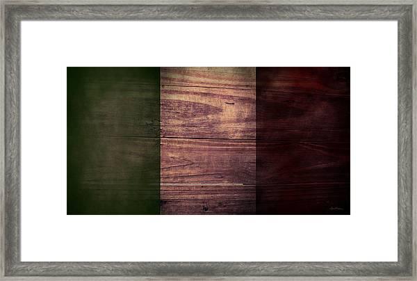 Italian Flag I Framed Print