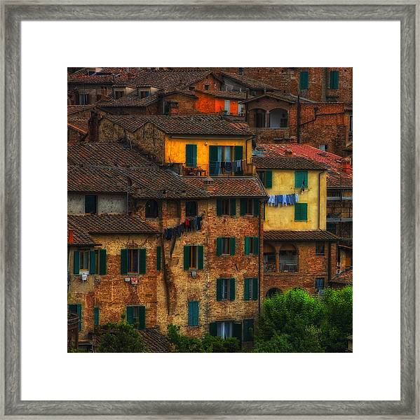 Italian Village View Framed Print