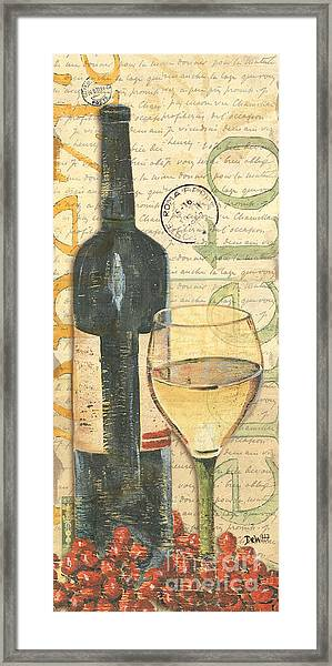 Italian Wine And Grapes 1 Framed Print
