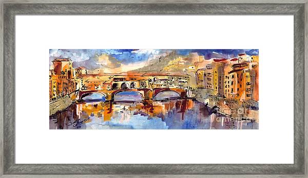 Italy Ponte Vecchio Florence Framed Print
