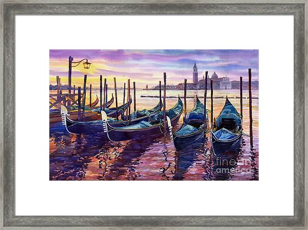 Italy Venice Early Mornings Framed Print
