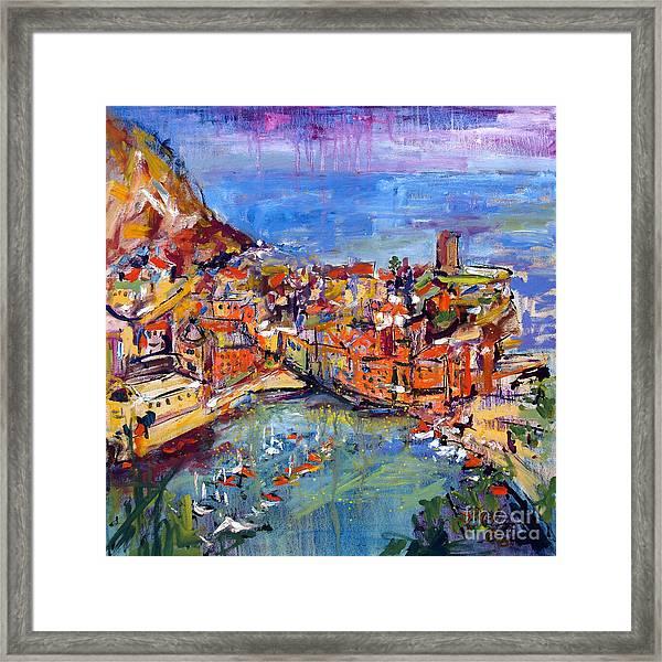 Italy Vernazza Cinque Terre Framed Print