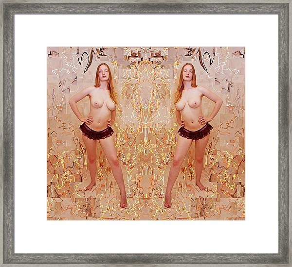 Iterative Person Panties Lines 2012 Framed Print