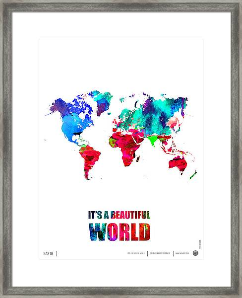 It's A Beautifull World Poster Framed Print