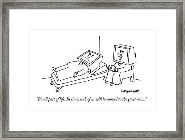 It's All Part Of Life.  In Time Framed Print