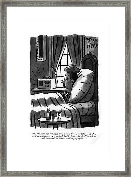 It's Certainly One Beautiful New Year's Day Here Framed Print