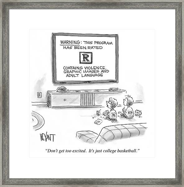 It's Just College Basketball Framed Print