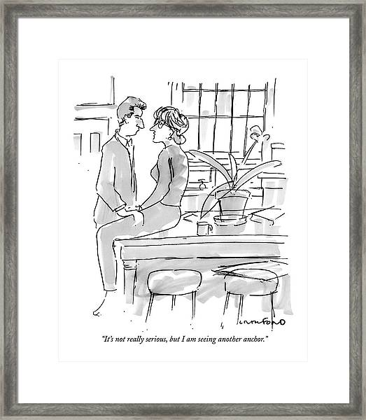 It's Not Really Serious Framed Print