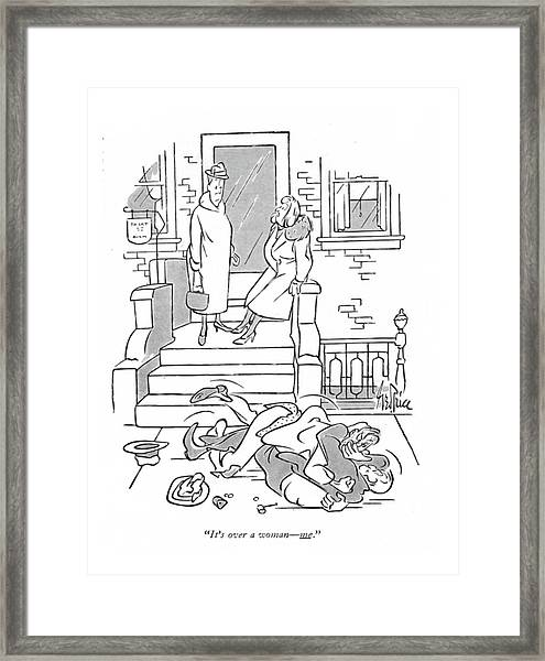 It's Over A Woman - Me Framed Print