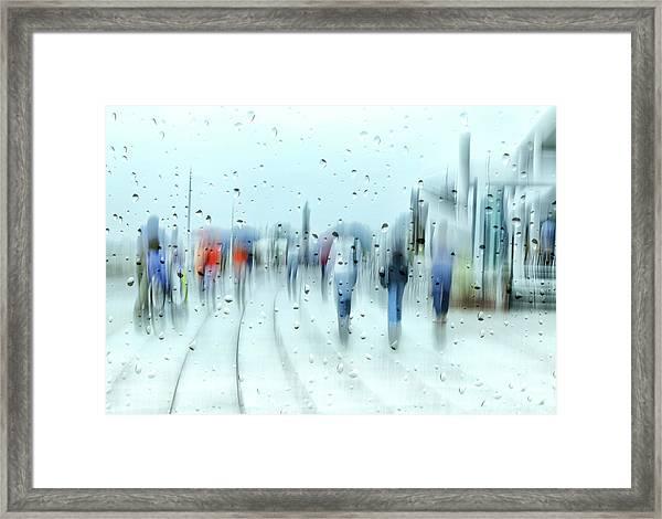 It`s Raining Framed Print