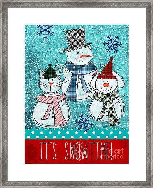 It's Snowtime Framed Print