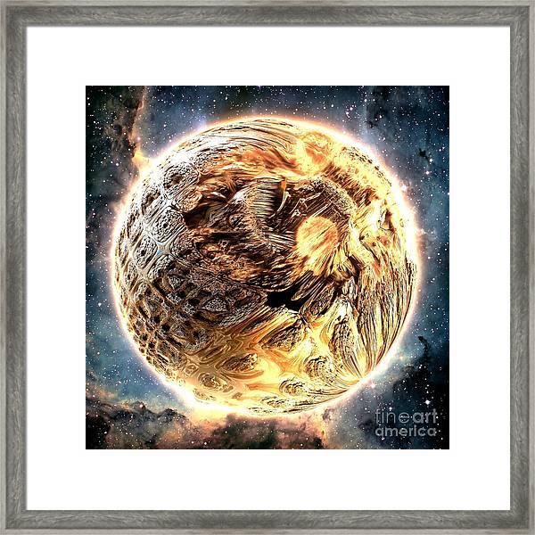 Ivory Planet Framed Print by Bernard MICHEL