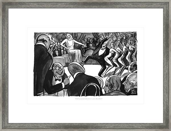 J. G.'s A Card All Right When He Gets To New York Framed Print