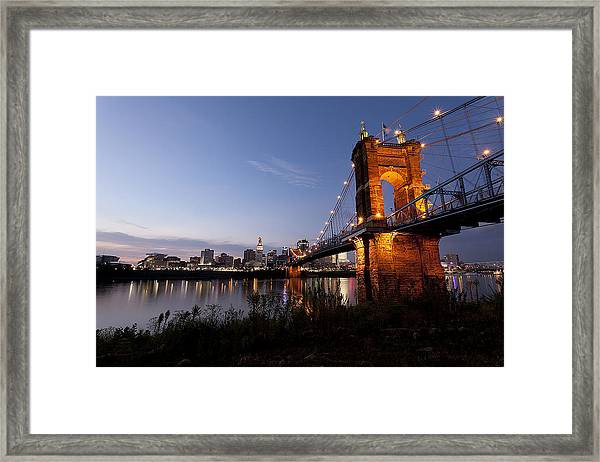 Ja Roebling Bridge Framed Print