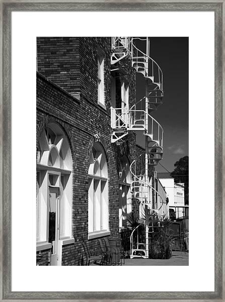 Jacaranda Hotel Fire Escape Framed Print