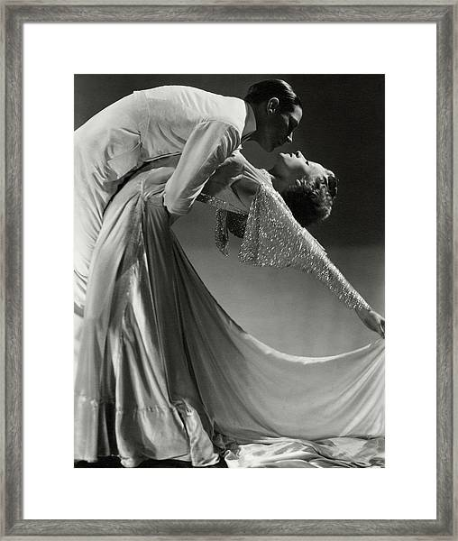 Jack Holland And June Hart Dancing Framed Print