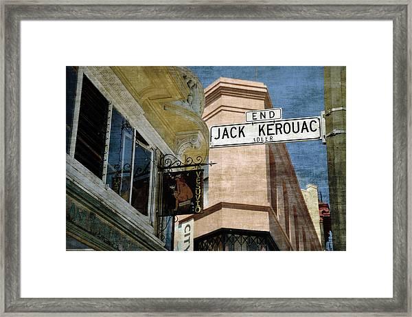 Jack Kerouac Alley And Vesuvio Pub Framed Print