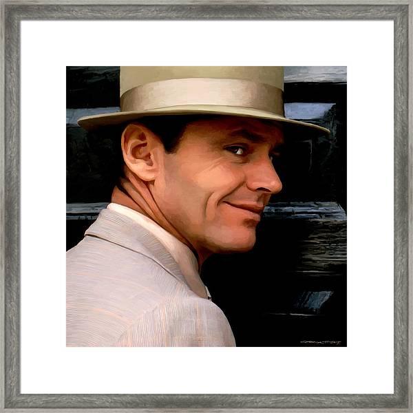 Jack Nicholson @ China Town Framed Print