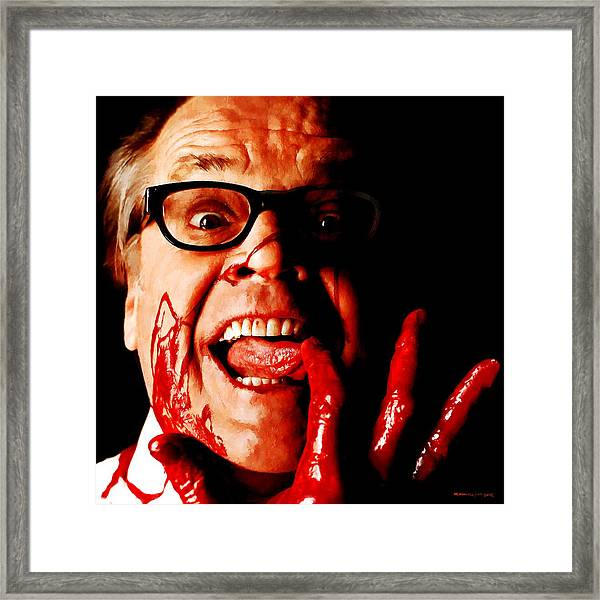Jack Nicholson Painted From Photo Of Matthew Rolston Framed Print