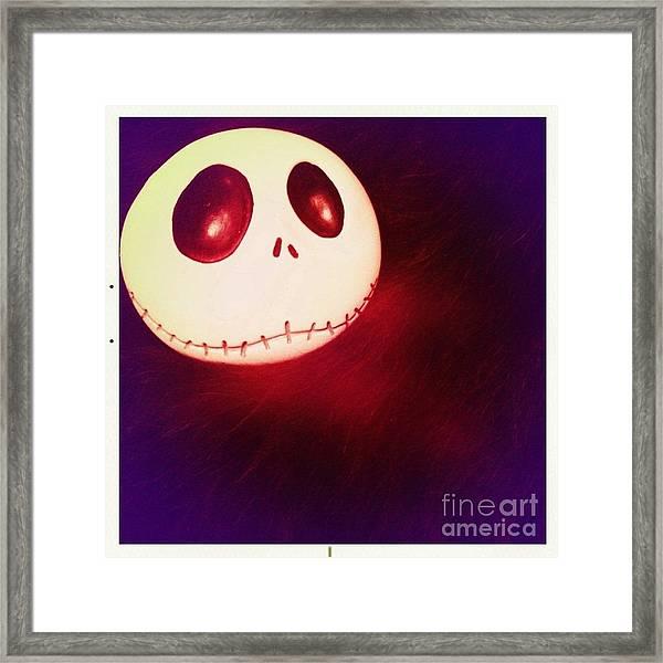 Jack Skellington Glowing Framed Print