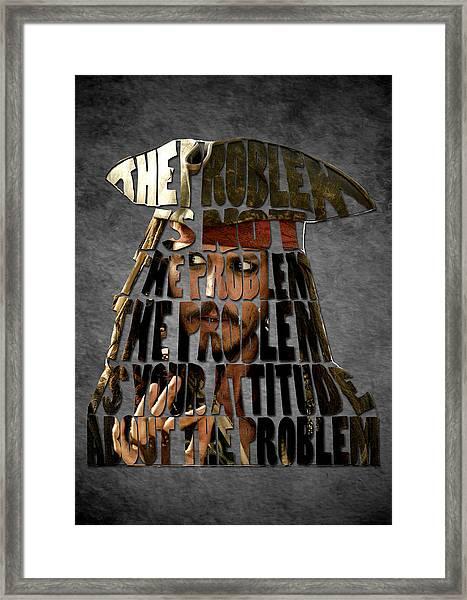 Jack Sparrow Quote Portrait Typography Artwork Framed Print