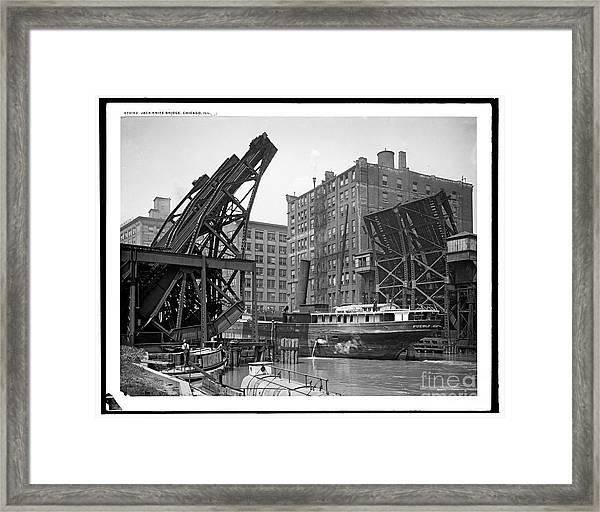 Jackknife Bridge Chicago Framed Print