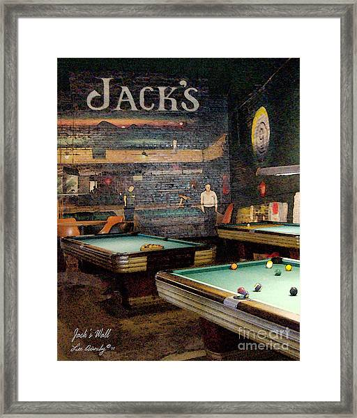 Jack's Wall Framed Print