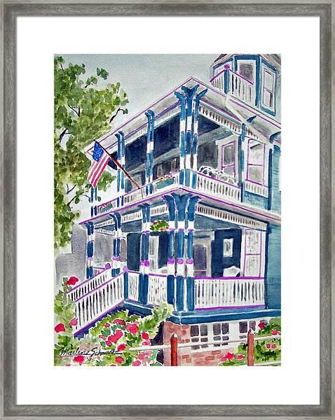 Jackson Street Inn Of Cape May Framed Print