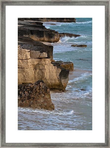 Jagged Shore Framed Print