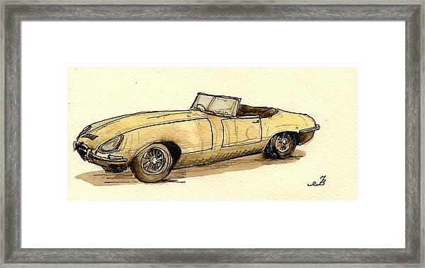 Jaguar E Type Cabrio Framed Print by Juan  Bosco