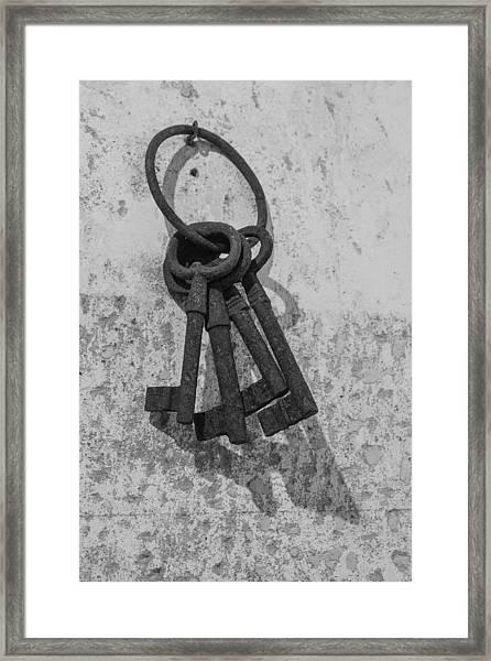 Jail House Keys Framed Print