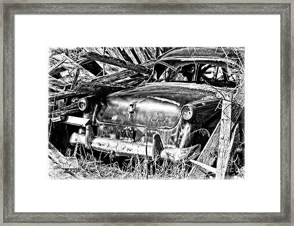 Jalopy For Rent Framed Print