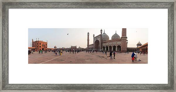 Jama Masjid Mosque, New Delhi, India Framed Print by George Pachantouris