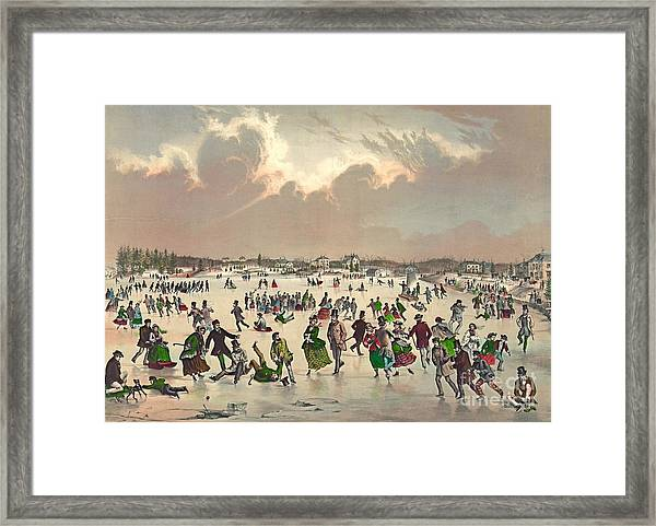 Jamaica Pond Massachusetts 1859 Framed Print