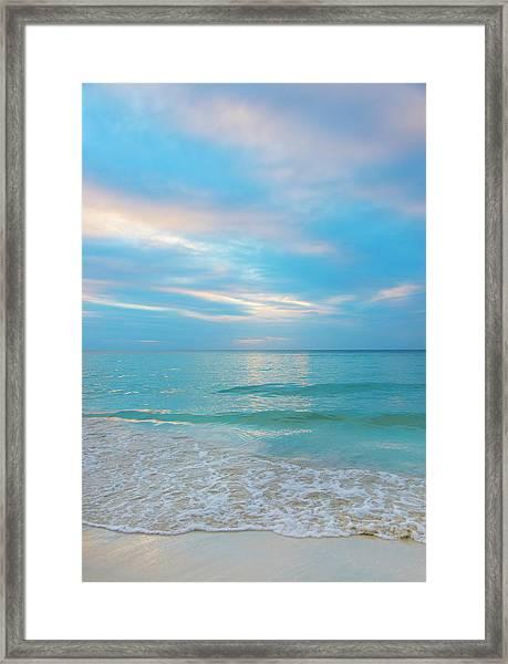 Jamaica, Seascape At Sunset Framed Print