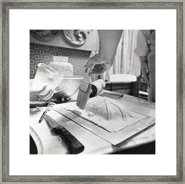James Beard Basting Pastry Framed Print