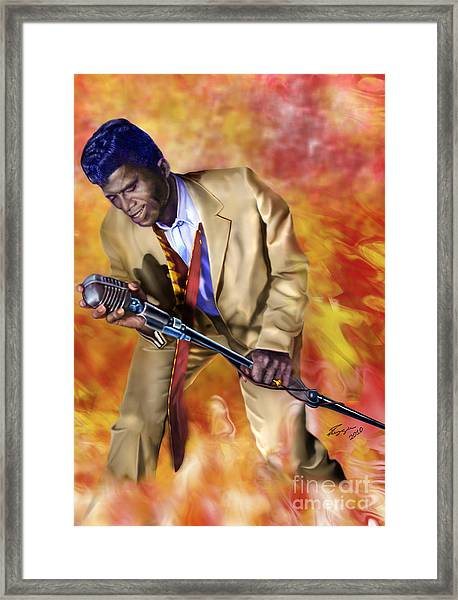 James Brown And His Famous Flames Framed Print