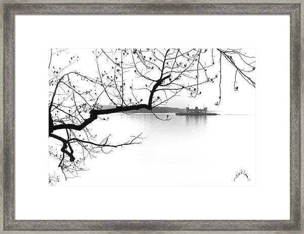 Framed Print featuring the photograph Jamestown Scotland Ferry by Williams-Cairns Photography LLC
