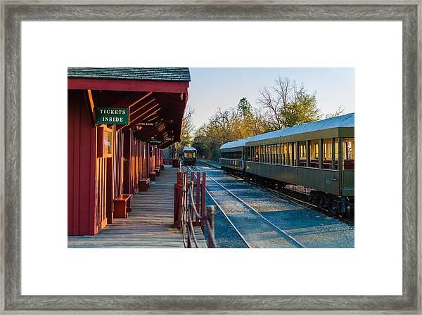 Jamestown Station Framed Print